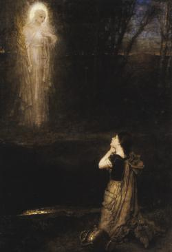 ponderful:  George Henry Boughton (1833-1905), The vision at the martyr's well