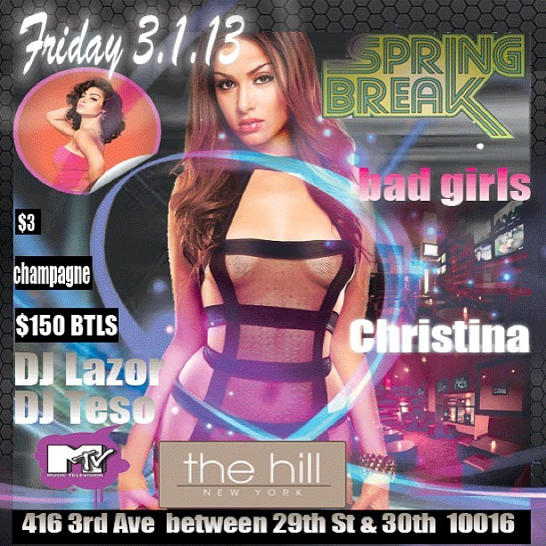 Spring Break Friday March 1st #DJTESO  #theHillNyc  @christina_jerz @djtesonyc @ThisisClubs