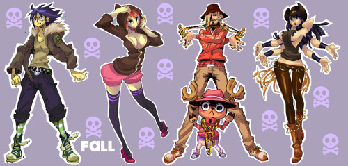rafchu:  As requested, the Fashion One Piece fanarts all together, sorted by season ! I'm finished for now but I keep Usopp in mind for a next set ^^