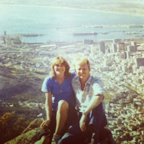 Mom and dad on lions head! Epic!