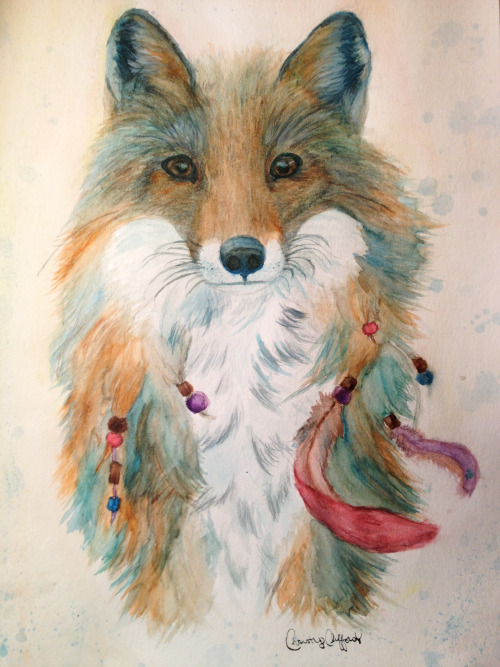 eatsleepdraw:  watercolor fox by Christy Clifford
