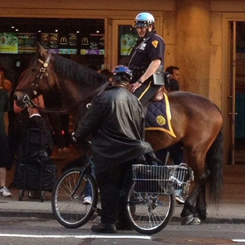 Bike & Pony Show #police #nypd (at McDonald's)