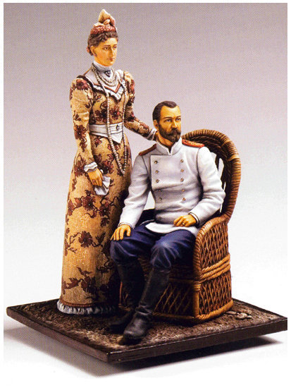 Nicholas II and Alexandra painted miniature. I secretly found out that my dad is trying to get this for me but it's apparently hard to get unpainted. I really hope he can get this-I would love it!