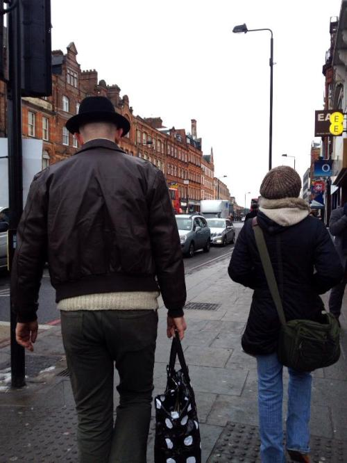 carlosadama:  My workmate spotted Heisenberg walking around Camden