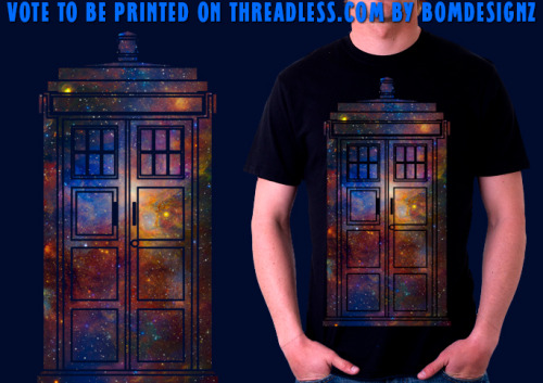 Hey everyone! I got this new Doctor Who Tardis t-shirt design thats up for voting. You can vote for it here if you like it http://www.threadless.com/threadless/adventure-in-space/