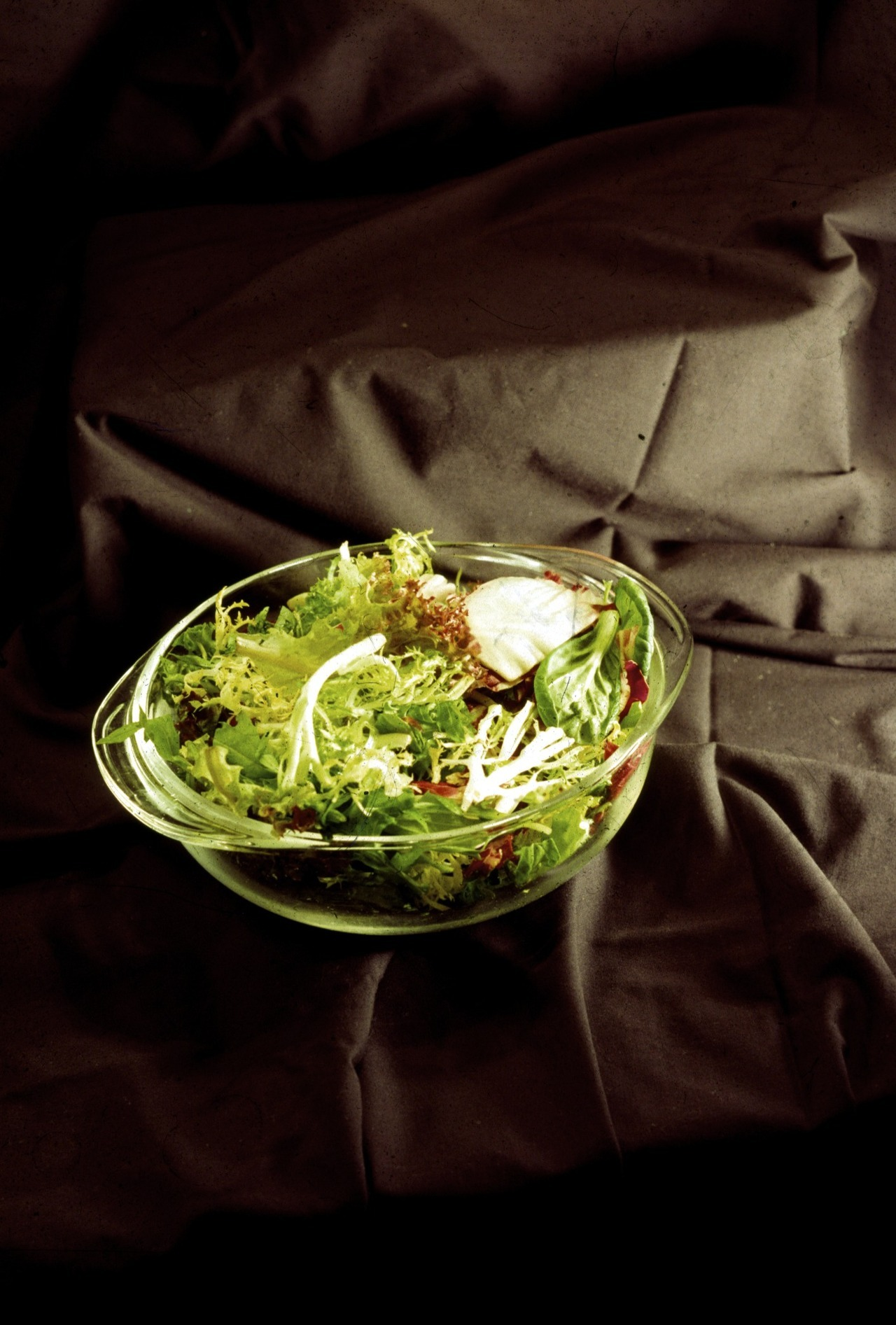 This is a photograph of a salad I took in 1996 or so. This is a very important salad.