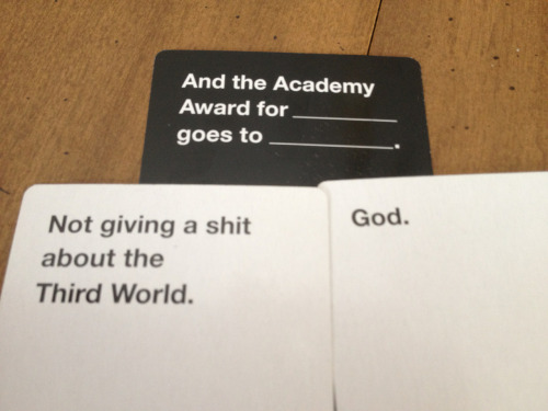 homerforsure:  A winning hand. Or How Cards Against Humanity Nearly Killed Us All