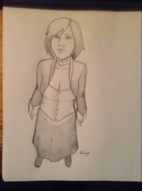Got a lot of Bioshock Infinite on the mind, so here is quick sketch of Elizabeth.