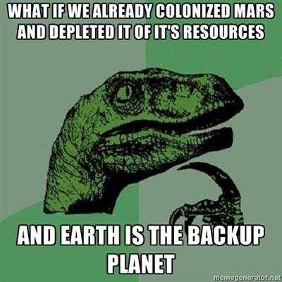 thedailymeme:  No life on mars?