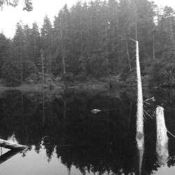 Secret lake near the Oregon coast
