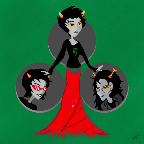 Ashen, Ashen, We All Fall Down Kanaya, if you're not careful, they're gonna tear that skirt to shreds. My Ladystuck gift for Chairman. (Accessible description available on AO3.)