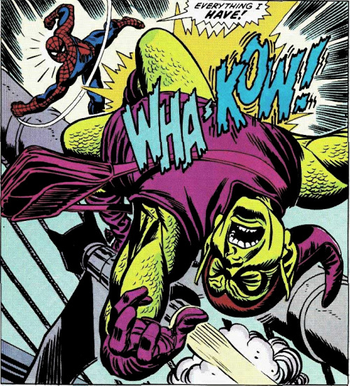 comicbookartwork:  Spider-Man Battles The Green Goblin