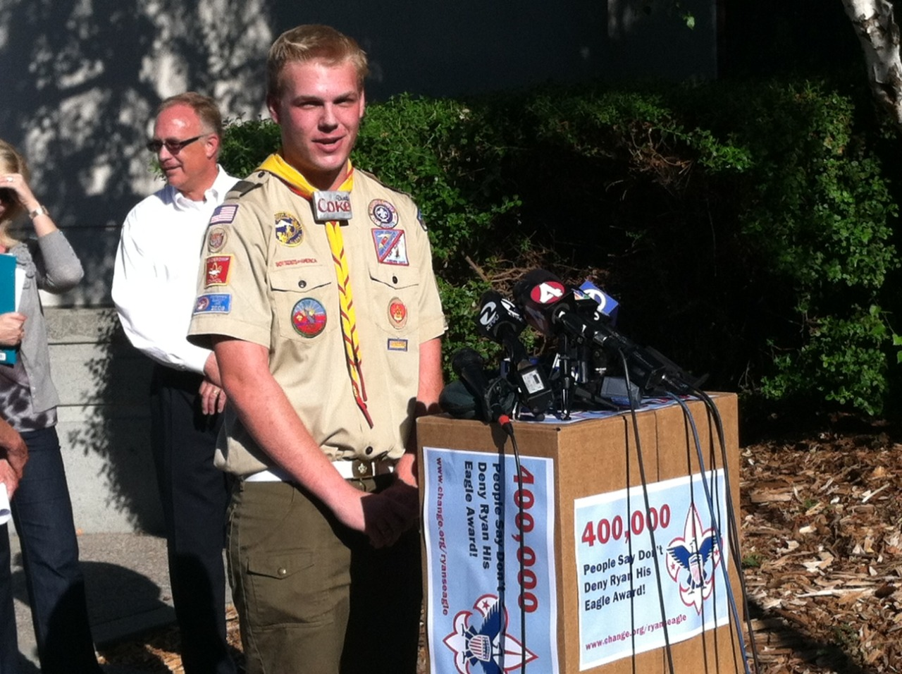 BIG NEWS!The Mount Diablo-Silverado Boy Scout Council in California approved gay scout Ryan Andresen's Eagle badge application, despite the Boy Scouts of America's national ban on gay scouts and leaders.