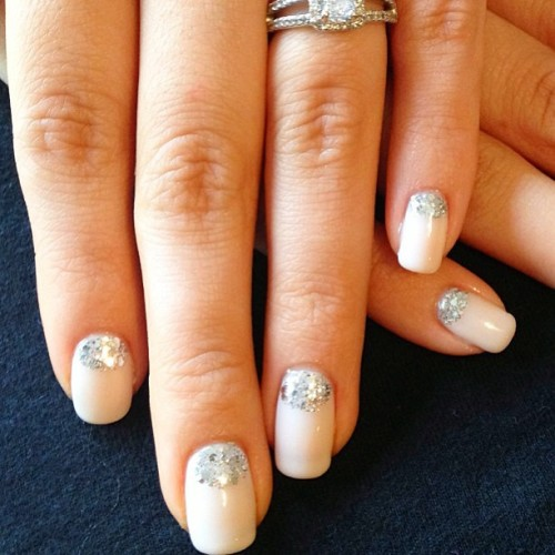 Wedding nails #nails #nailart #wedding #sparkle #weddingnails