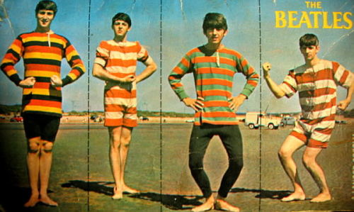retrogasm:  Beatles in stripes…
