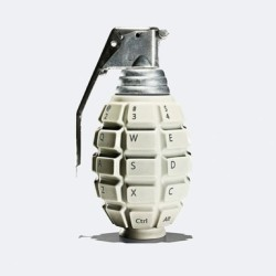 "Norton Internet Security ""Grenade"" Ad by Leo Burnett_""In the hands of a criminal, a computer is a weapon. Every click matters""   #ad #design"