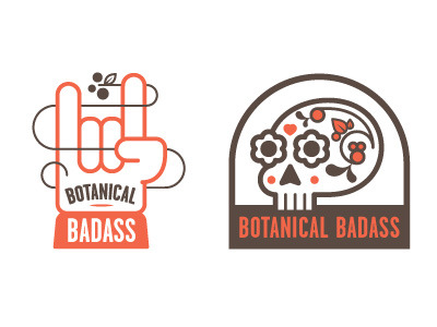 (via Dribbble - Botanical Badass by Chris Streger)
