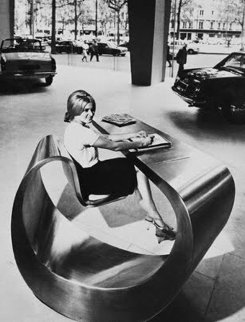 Peugeot showroom, Paris, 1966