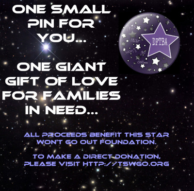 midnighthouseelves:  To help our TSWGO charity effort by purchasing this pin, please visit… https://www.etsy.com/listing/150034883/tswgo-dftba-charity-pin  Love the Neil Armstrong reference!