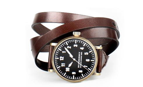 guyswag:  Burberry multi leather wrap watch