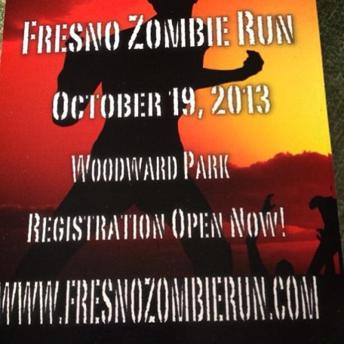 I want to do this in October. It looks like fun. Who is down? #fresnozombierun #woodwarkpark