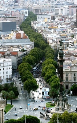 emilanton:  Las Ramblas in Barcelona, Spain