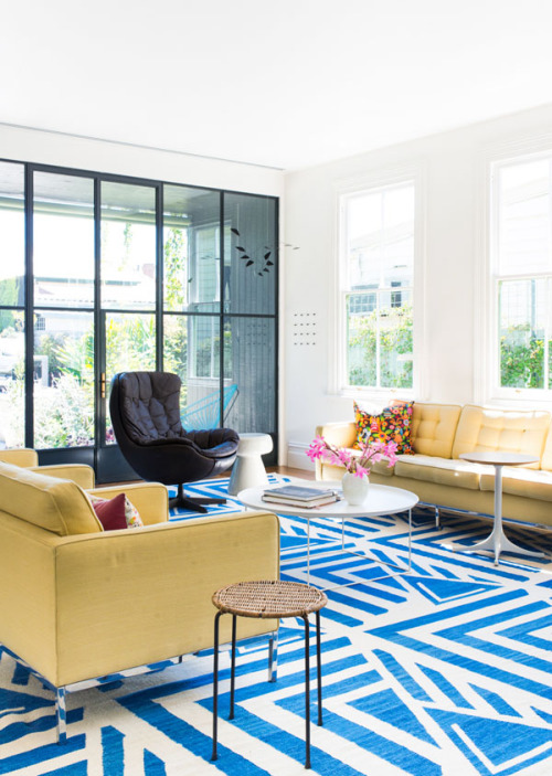 a fun mix of patterns, textures & colours  in Anna & Peter's home. tx design files