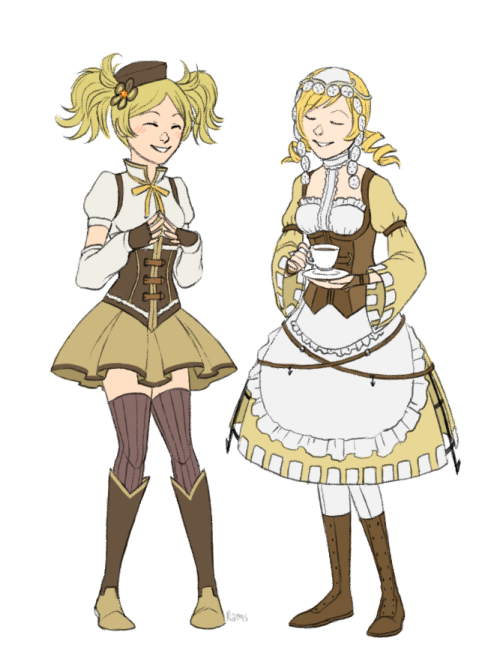 yagirams:  mami and lissa clothes swap!!