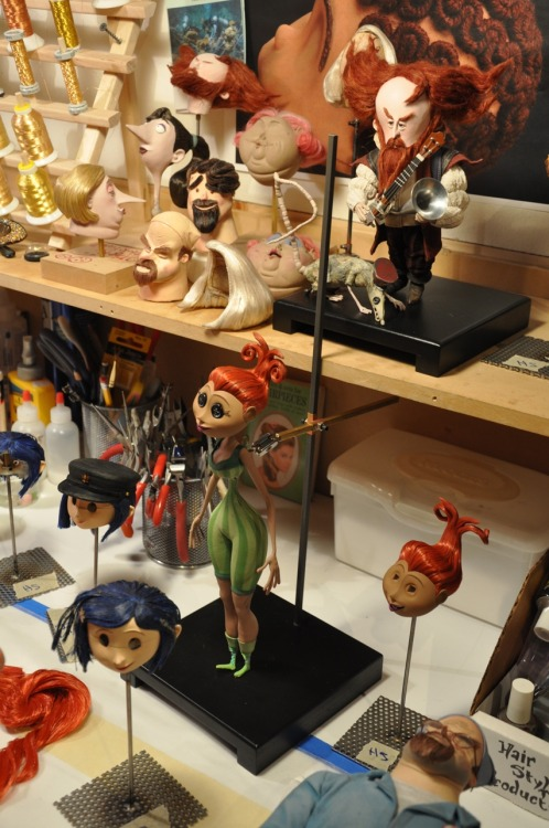 marcanimation:  Coraline hair artist's workspace