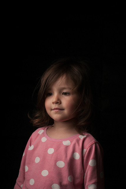 11/52, Nina Pyjama Portrait on Flickr.Nikon D200 35mm afs f16 ISO100 60x60cm softbox 45 deg YN560 strobe on 1/1