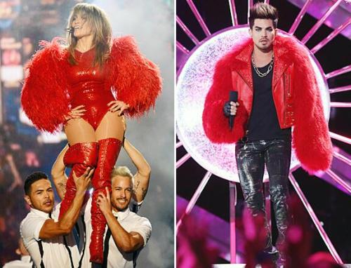 Who Rocked @TheBlondsNY Red Fur BEST @JLo or @AdamLambert?