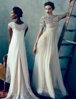monsieur-j:  Jourdan Dunn & Miranda Kerr in Marchesa - US Vogue - February 2013