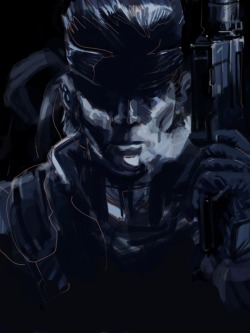 gamefreaksnz:  I drew Solid Snake on the iPad. Metal Gear Solid changed the way I think about video games Reddit user Olympia finger painted Solid Snake on an iPad using Brushes,