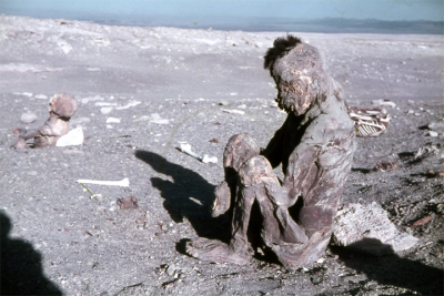 Mummy found in the Atacama desert in Chile.