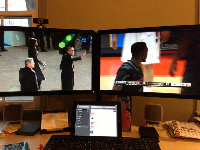 My setup with now, some @Cuse basketball & #inaug2013 on Flickr.