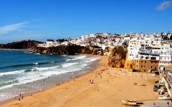 allthingseurope:  Beach in Albufeira, Portugal via