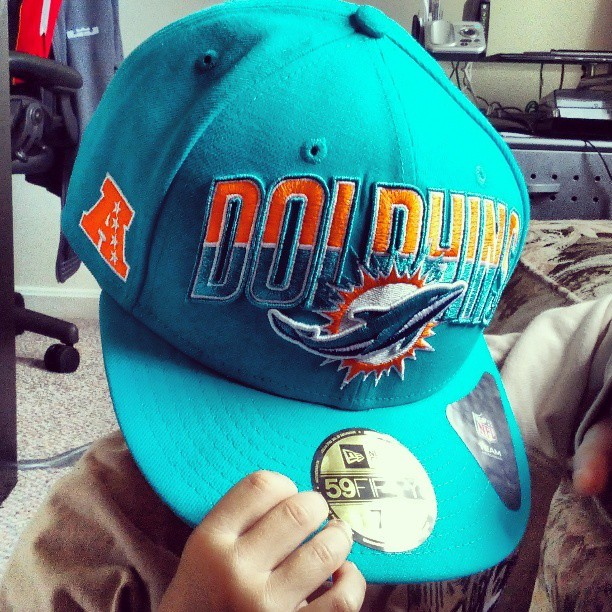 #SPORTS - GOT my new #Dolphins #logo #hat… modeling courtesy of littlest man.