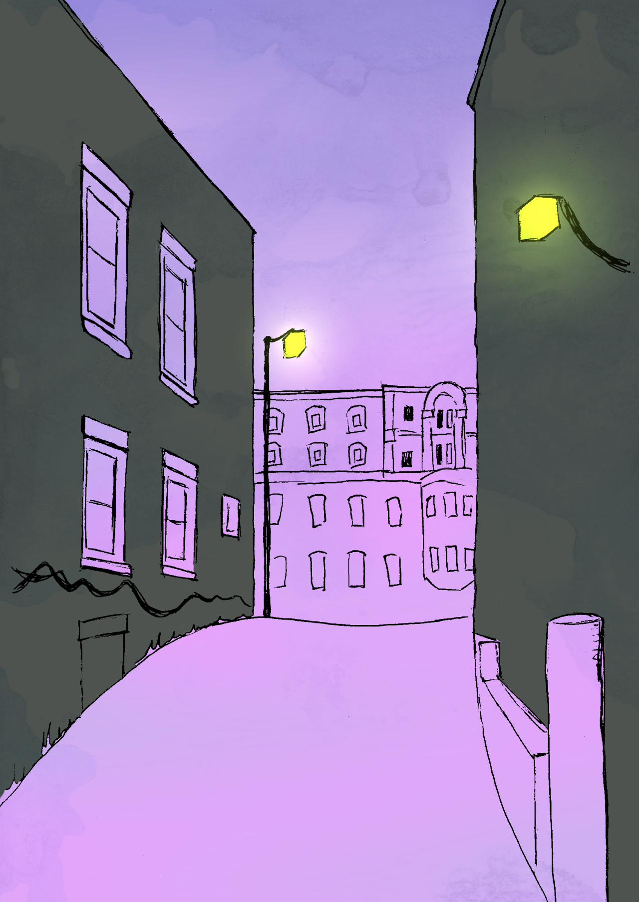 Perspective practice. #my art#art#drawing#background#perspective
