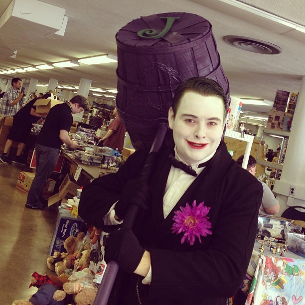 One of the coolest #joker cosplays EVER- from the Columbus Toy and Collectible Show! #batman #cosplay #comics / on Instagram http://bit.ly/15db5lm