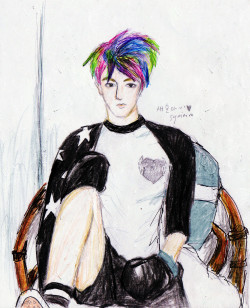 sisymmm:  Ma First color fanart ><  Sehun ah ~ <3