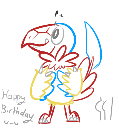 bootychu:  8-xenon-8:   happy birthday to yooooooooou  omfg it's an Archen tytyty  i was gon do archeops buuuuuut  das okay, archen is gr8 also dat booty is fine gurrrl