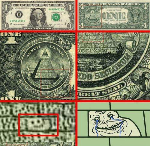 funnyornothing:  Forever alone on a one dollar bill, look for it and you'll find it, trust me