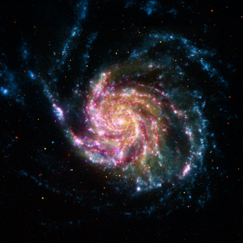 spacetexture:  Pinwheel galaxy