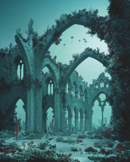 powderedvinegar:  Underwater Cathedral ~ Didier Massard 2012