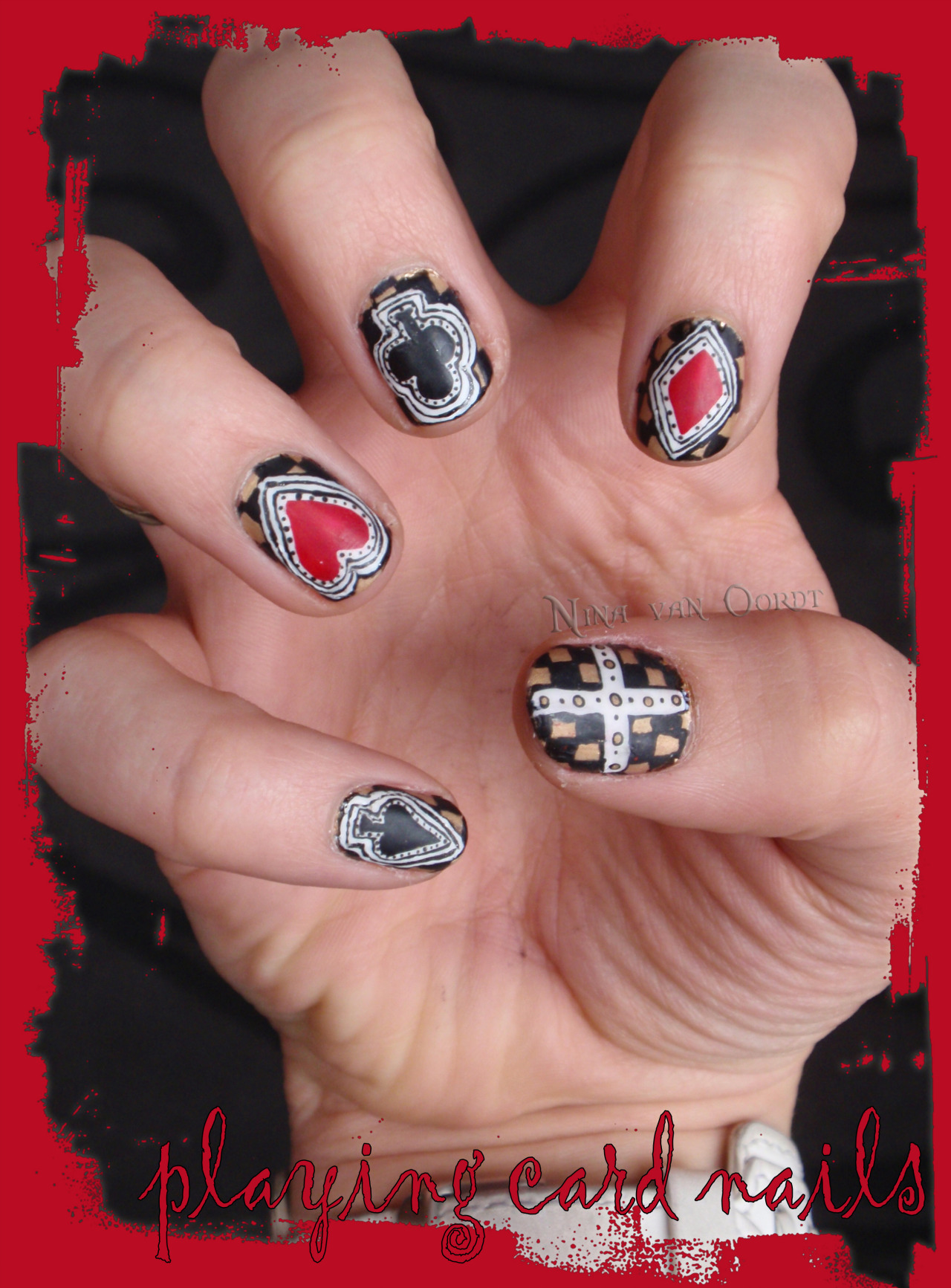 playing cards nails
