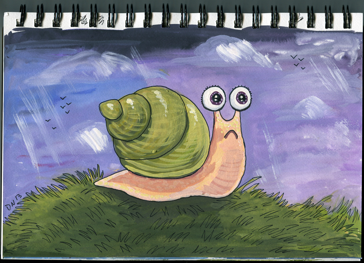 eatsleepdraw:  Snail on a journey http://daronnefcy.com/