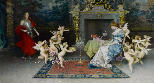 monsieurleprince:  Francesco Vinea (1845 - 1902) - A romantic dream, 1898