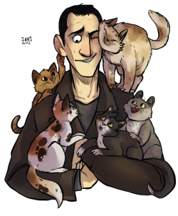 trionaid:  Nine and catsss by ~SIIINS