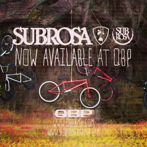 Stoked! Big news today from Subrosa and @qbmx hit subrosabrand.com for all the info. #subrosabrand
