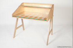 "New design! ""The Embroidered Wooden Desk"" is part of the ""Wooden project"" This upcoming project is entirely lead by the passion to preserve traditional crafts. Furnitures are handmade and embroidered in UK. http://cargocollective.com/coraliebonnet/The-wood-project-1"